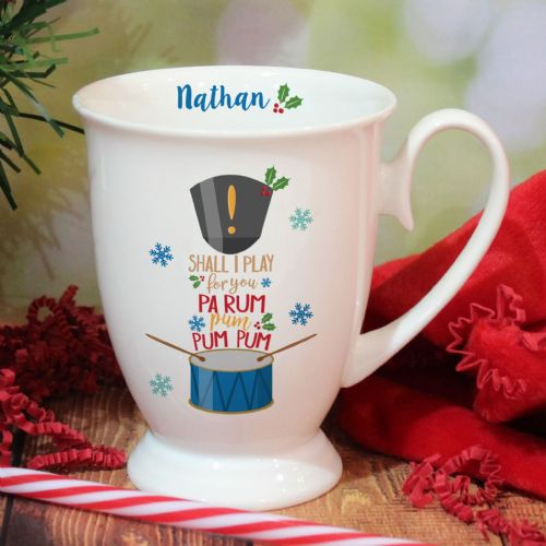 Personalised Little Drummer Boy Marquee Mug